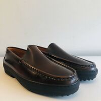 *BNIB* TOD'S Women's Brown Leather Country Loafers UK 7.5 | EUR 40.5 | US 9