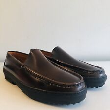 e01bdb1ac1d  BNIB  TOD S Women s Brown Leather Country Loafers UK 7.5