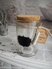 Glas Kreide Tafel Vorratsglas Aufbewahrung Vorratsgefäß Vorratsdose Vintage