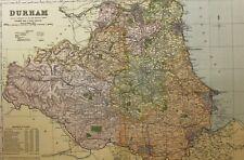 1898 ORIGINAL COUNTY MAP DURHAM SUNDERLAND SOUTH SHIELDS HARTLEPOOL DARLINGTON