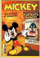 LE JOURNAL DE MICKEY n°2391 ¤ 1998 ¤ AVEC CADEAU JEU DES PORTRAITS ROBOTS