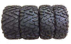 Set of 4 New ATV Tires AT 27x10-12 Front & 27x12-12 Rear /6PR P350 - 10172/10175