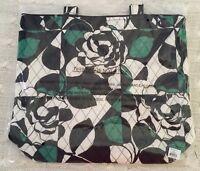 Vera Bradley Tote Imperial Rose Green Work School Travel Cotton Exact MSRP $49