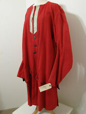 Victorian Tail Coat Revolutionary Red Wool Bell Sleeve Screen Worn 44