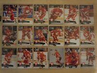 1991-92 Pro Set CALGARY FLAMES Team Set - 31 Cards - VERNON MACINNIS FLEURY
