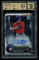 2016 Bowman Chrome Alex Bregman Rookie BGS 9.5 Auto 10 RC