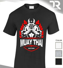Muay Thai Kickboxing Entrenamiento Culturismo Camiseta nación MMA UFC Luchador Tee