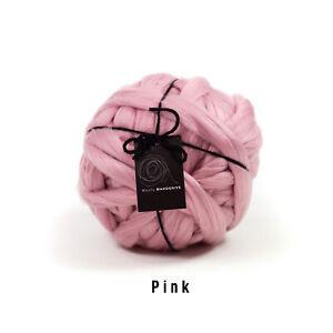 4kg Pink Mammoth®   Giant Super Chunky Extreme Arm Knitting Blanket Yarn Big