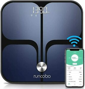 Runcobo WiFi and Bluetooth Auto-Switched Body Composition Monitor, Smart Scale