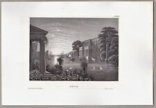 Italien, Italia - Ansicht von Ostia. - Stich, Stahlstich um 1850