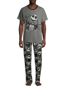 THE NIGHTMARE BEFORE CHRISTMAS Men's M, L 3-Pc. Pajama Set NWT