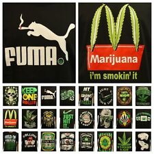 Fashion Graphic T-Shirt Weed Marijuana Mexico Crew Neck Printed Hipster Funny