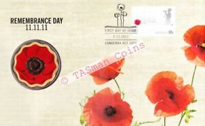 PNC Australia 2011 Remembrance Day RAM $5 Coloured Coin Limited Edition 15000