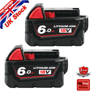 2X For Milwaukee M18 18V Extended Capacity Battery Lithium XC 6.0 AH 48-11-1860