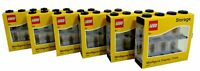 LEGO Pack of 6 Small 8 Minifigure Storage and Display Cases BLACK NEW & SEALED