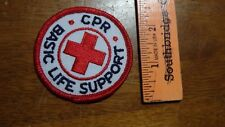 RED CROSS CPR BASIC LIFE SUPPORT PATCH  EMT AMBULANCE RESCUE   BX B#10 ENV 4
