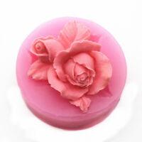 Silicone 3D Rose Fondant Cake Mold Chocolate Decor Tools Sugarcraft Flower Mould