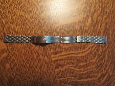 Kreisler Coffin Link Stainless Watch Bracelet Accutron Astronaut Spaceview LONG!