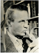 Thor Heyerdahl Vintage silver Print,Thor Heyerdahl est un anthropologue, arché