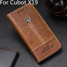 Shockproof Leather Back Case Cover With Stand Card Slot Holder For Cubot X19