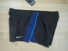 7a6263e55e9 Nike Womens XL Black 10k 2 Dri Fit Running Shorts With Brief 895863-018
