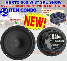 """HERTZ SV200L 8"""" SPL SHOW 500W COMPONENT WOOFERS CAR AUDIO 4 OHM SPEAKERS NEW 8in"""