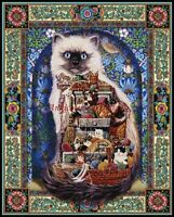 Cats Galore - Printed Chart Counted Cross Stitch Patterns Needlework 14 ct Aida