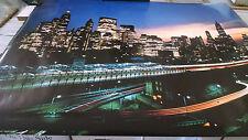 vintage New York City at night Manhattan wall poster PBX3506