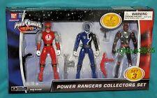 """Power Rangers SPD 5"""" Blue Ranger Ninja Storm Red Ranger & Kelzak New 2004"""
