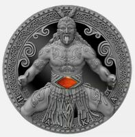 2020 Cameroon World Cultures Haka 2 oz 999 Silver Coin w/Carnelian - 500 Mintage