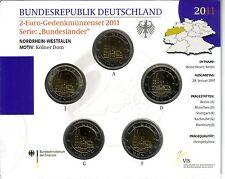 BRD 5 x 2 EURO Stempelglanz von 2011