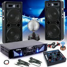 Partykeller Musikanlage PA Boxen USB MP3 Bluetooth Verstärker Mixer Disco Kugel