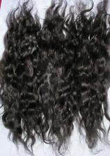 MOHAIR DOLL HAIR PUPPET BLYTHE REBORN ANTIQUE RESTORATION - BLACK WAVY - 12 GRMS