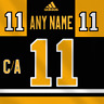Pittsburgh Penguins Adidas Dark Jersey Any Name Any Number Pro Lettering Kit