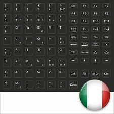 BLACK STICK KEYSTICK ITALY TASTATURAUFKLEBER ITALIENISCH SCHWARZ FSC HP IBM NEU
