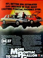 1980 Pontiac Phoenix Most Exciting Ever Original Print Ad-8.5 x 11""