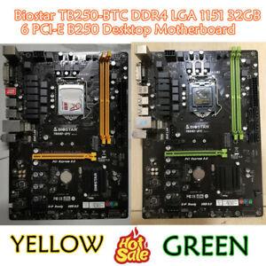 BIOSTAR TB250-BTC LGA 1151 USB 3.0 Intel B250  DDR4 ATX 6 GPU MINING Motherboard