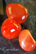 CARNELIAN - Birthstone VIRGO - Lucky Talisman PISCES Plus A to Z book of Stones