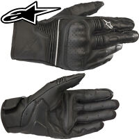 ALPINESTARS Motorradhandschuhe AXIS schwarz Leder kurze Stulpe Sport Gr. XL / 10