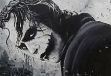 """Batman Joker - The Dark Knight B&W - Movie Poster """"36 x 24"""" - NEW"""