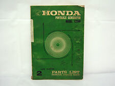 HONDA PORTABLE GENERATOR E2000 PARTS LIST (#194)