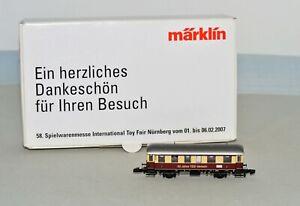 Z Scale Marklin 2007 Toy Fair 50 Jahree TEE-Verkehr 2nd Class Passenger Car