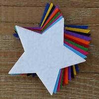 10x 3mm Thick Felt Pointed Star Craft Shapes Sizes 6-15cm 11 Colours