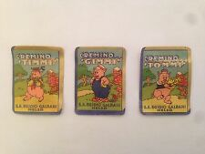 Tre figurine anteguerra Disney - cremino Galbani Melzo