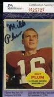 Milt Plum Jsa Coa Autographed 1960 Topps Authentic Hand Signed