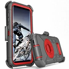 Samsung Galaxy S8 Plus Case Protective Cover Shockproof With Kickstand Black/Red