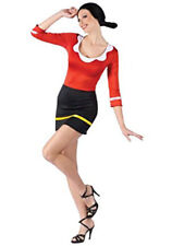 OLIVE OYL FROM POPEYE THE SAILOR MAN HALLOWEEN COSTUME WOMEN SIZE SMALL/MEDIUM