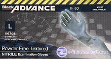 Diamond Gloves Black Advance Nitrile Examination Powder-Free Gloves, Heavy Du...