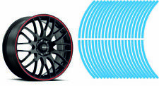 Wheel Striping Stripes Stickers Decals for Motorbike or Car *9mm* Light Blue