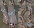 SALE!!! 1 Pair Barefoot Sandals Foot Jewelry Beach Bridal Wedding Ankle Bracelet